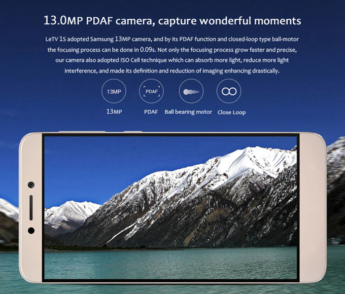 13.0mp PDAF camera,capture wonderful moments