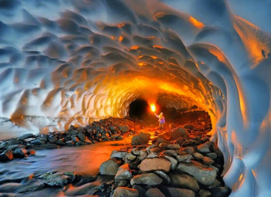 Kamchatka - A incrível caverna de gelo lary di lua