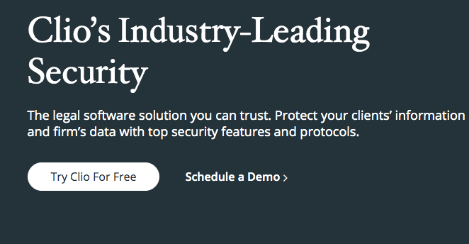 Clio's Industry-Leading Security