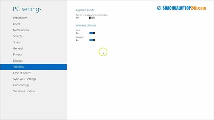 Kết nối Bluetooth trên Windows 8