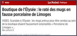 Elysée - mugs en fausse porcelaine de Limoges