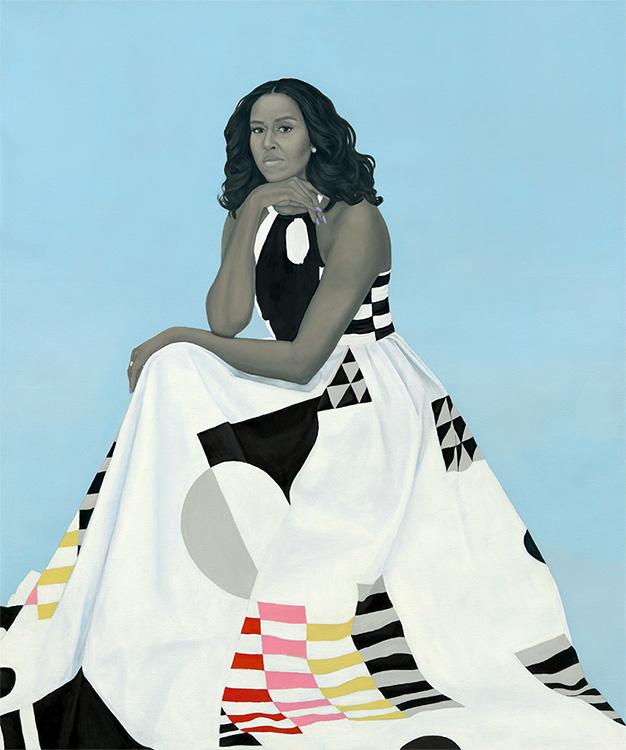 Amy Sherald - Michelle LaVaughn Robinson Obama, 2018