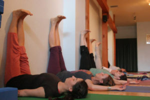yoga legs up the wall pose image