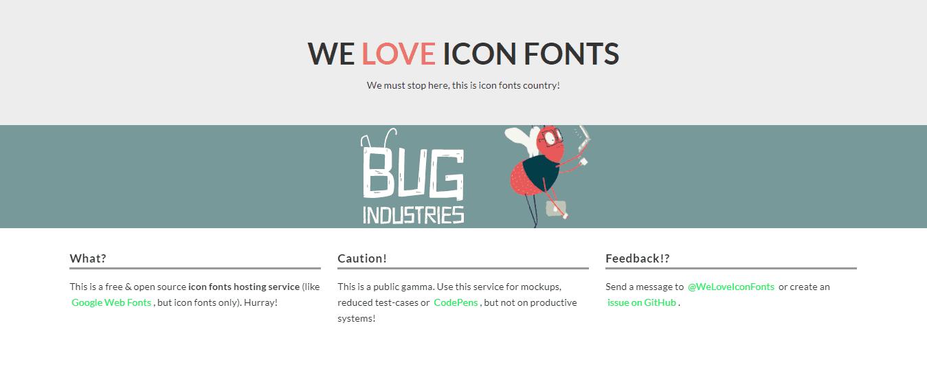 We Love Icon Fontes é um site de ícones para wordpress