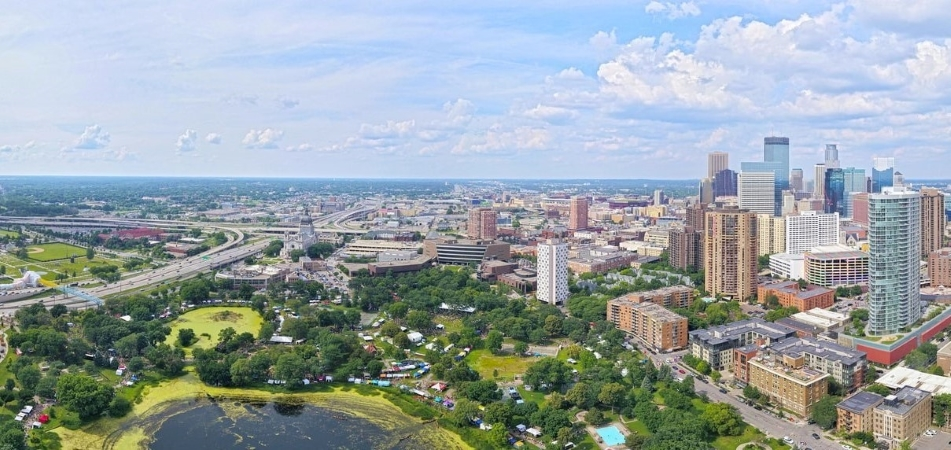 Loring Park and Downtown Minneapolis are two Minneapolis neighborhoods.