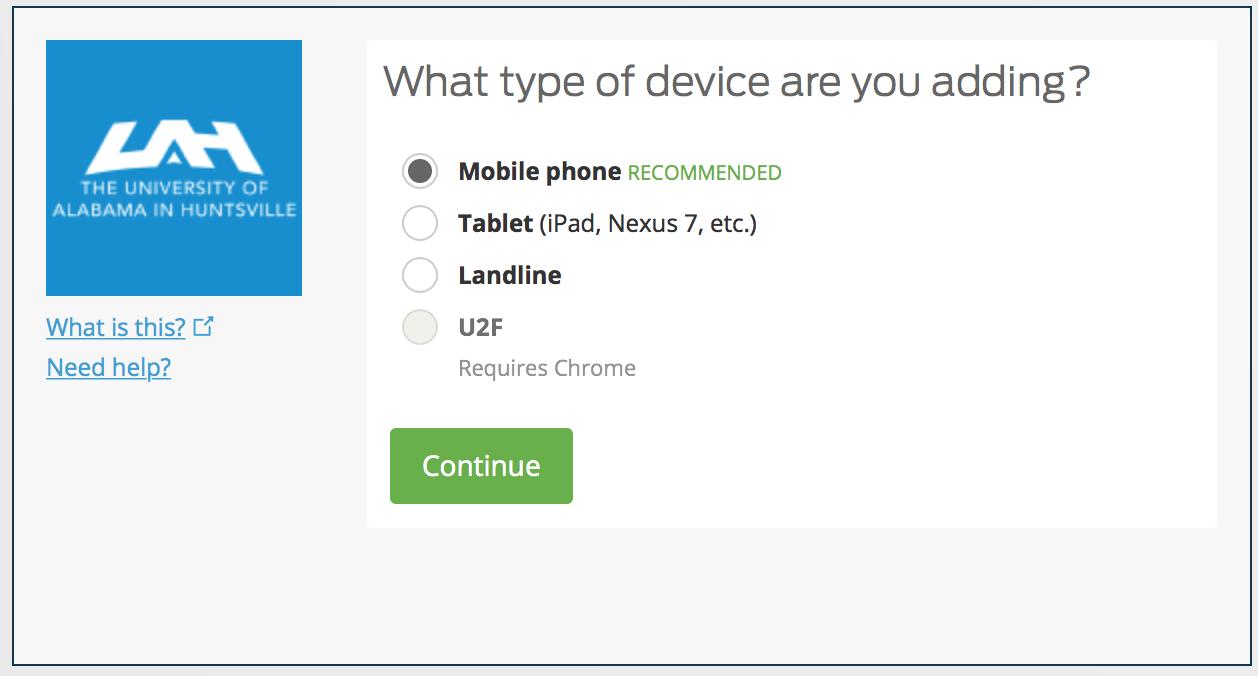 Visual Representation of Device Type Screen