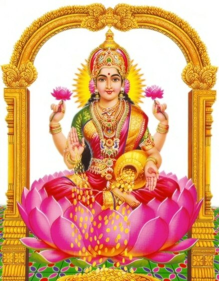 Goddess of wealth and prosperity: Goddess Lakshmi