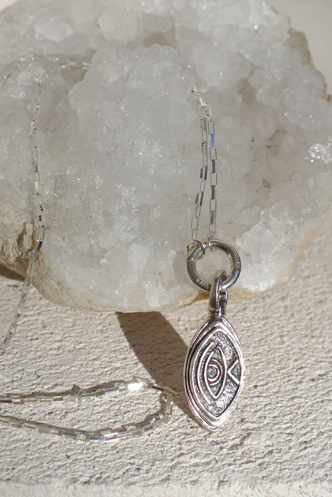Silver Necklace and Locket