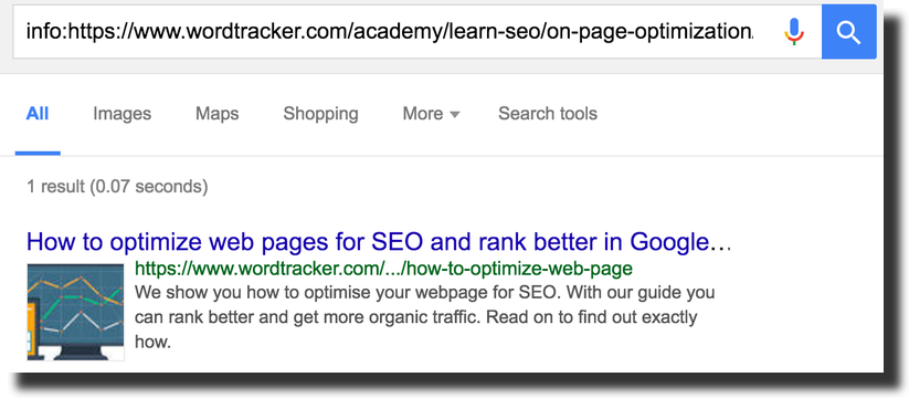 Google Snippet preview