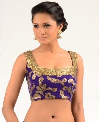 Scoop neck blouse design