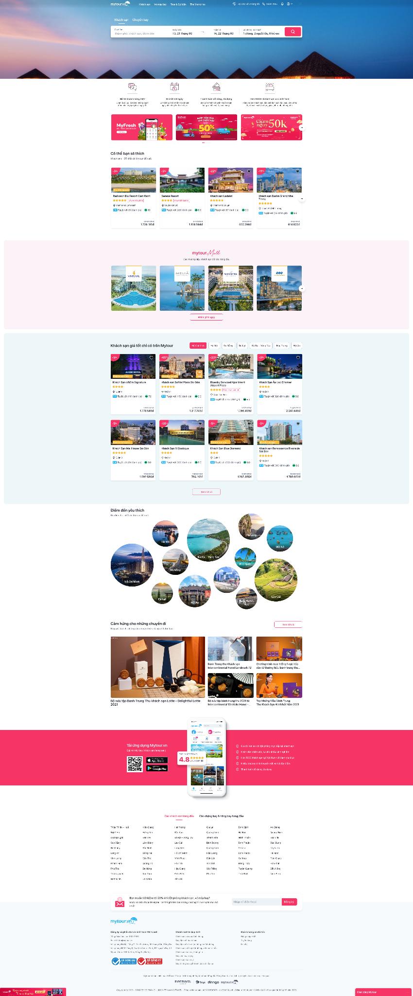 Mẫu website du lịch 1