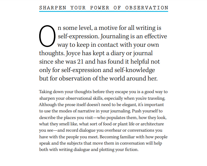 Joyce Carol Oates Masterclass Review - Sharpen your tools of observation