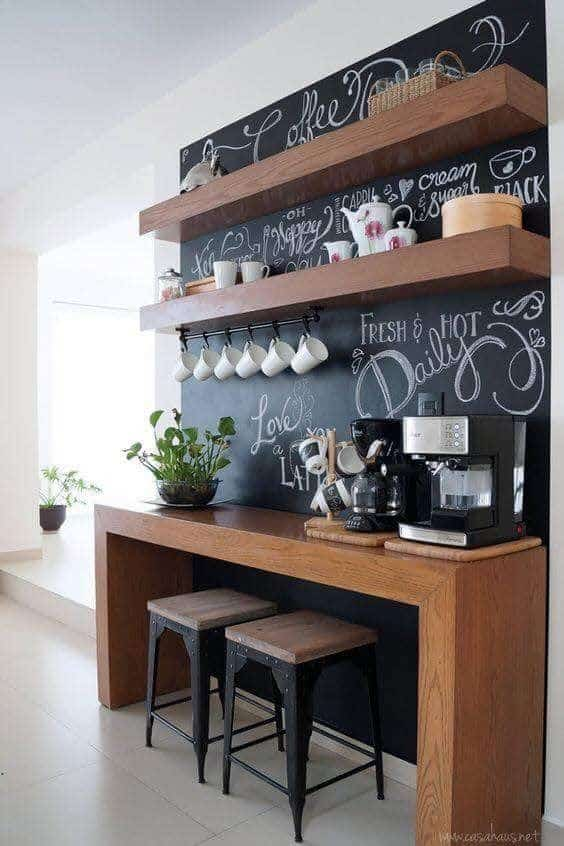 Chalkboard Coffee Bar Idea