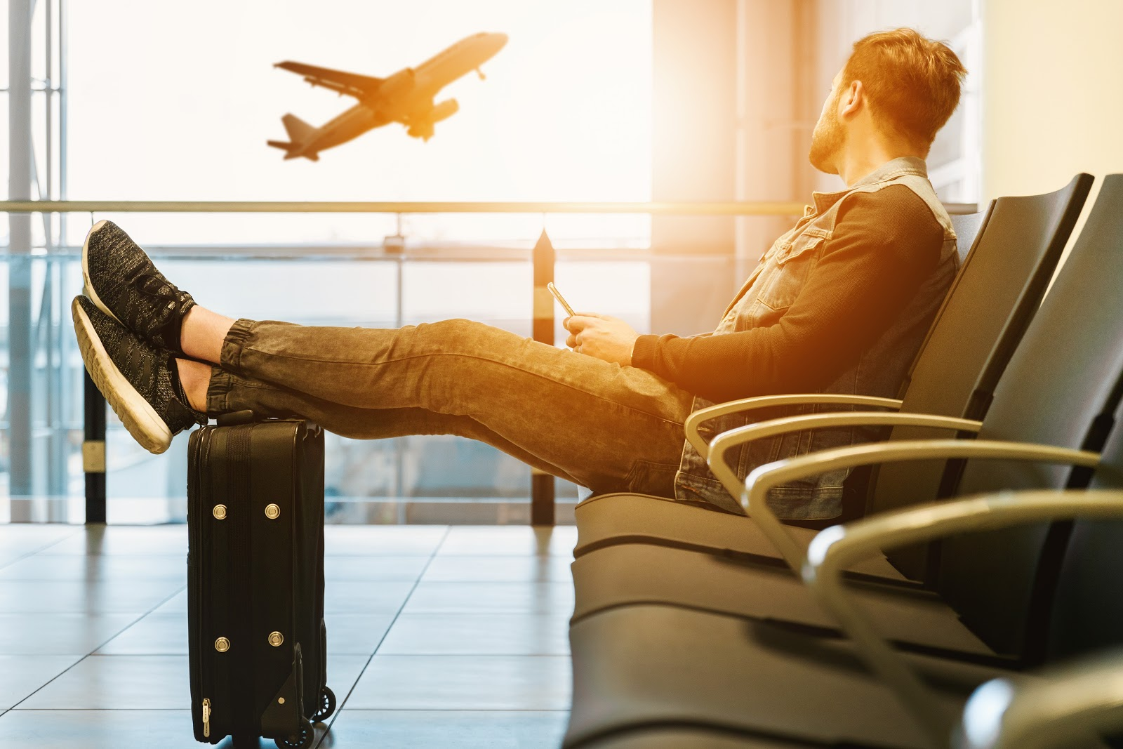 man, airport, travel, solo, alone, adventure, luggage