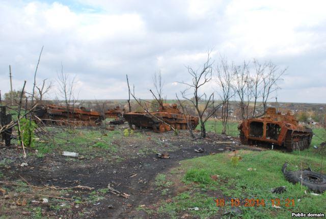 Селище поблизу Тореза (Фото з соцмереж)