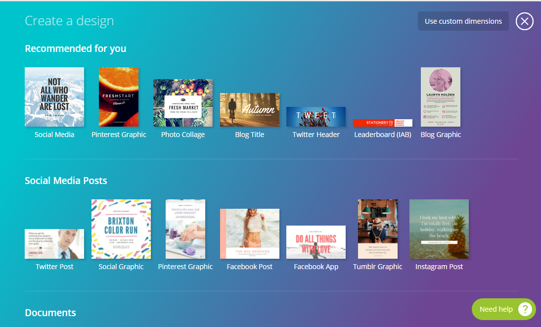 canva is a great social media tool for design