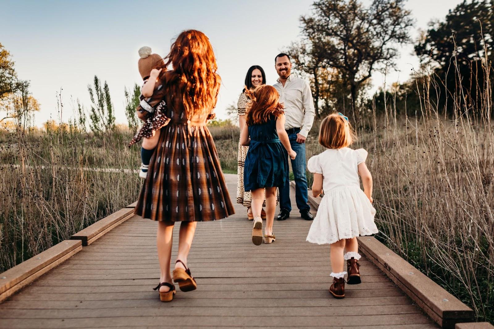family posing ideas