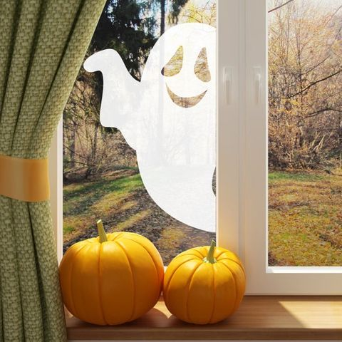 Custom Your Halloween Window with Ghost Stickers