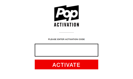 Activate POP TV on smart devices