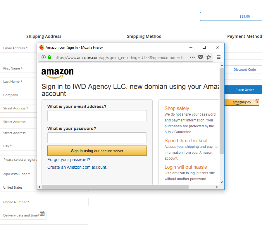 M2] Amazon Pay Integration - IWD Agency Support Center
