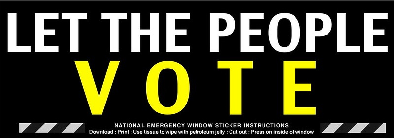 Let People Vote Political Statment Sticker by James Mallos of Flickr