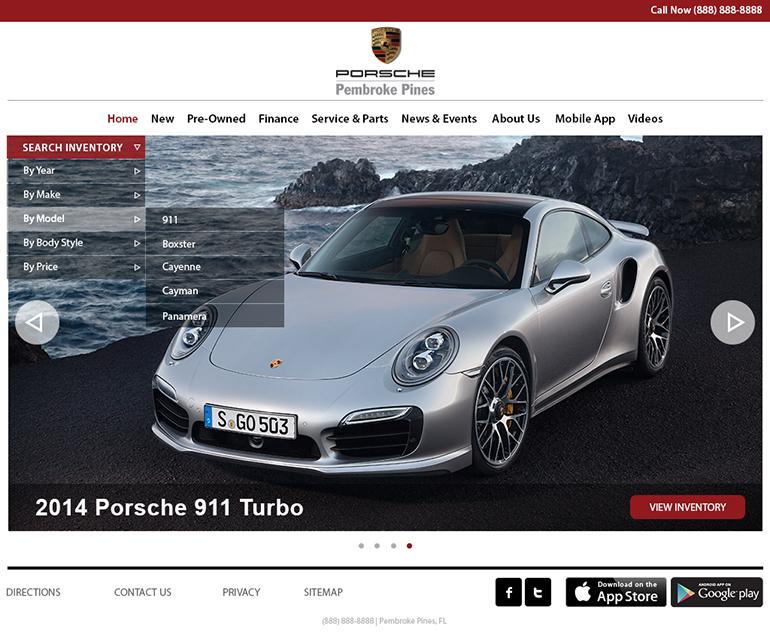 thiết kế website ngành ô tô