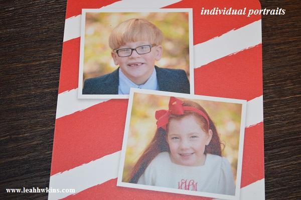 individual portraits for the christmas cards