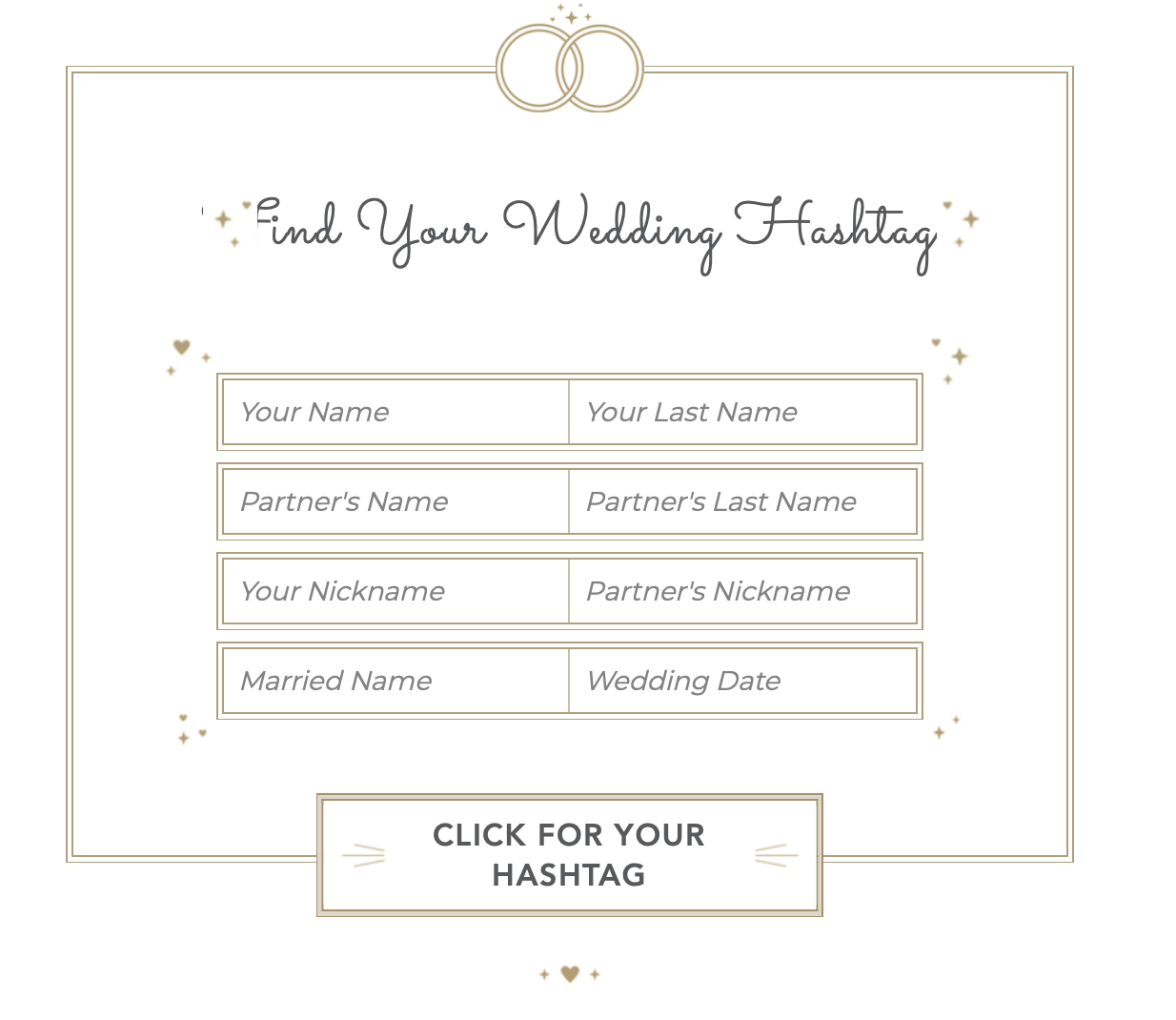 Find Your Wedding Hashtag
