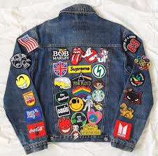 Image result for jean jacket with patches