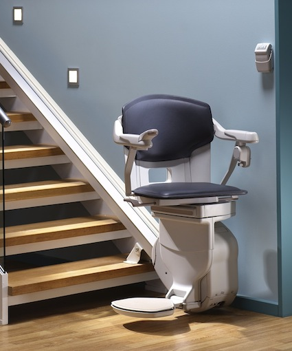 caring for elderly parents at home - stairlift