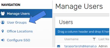UNIFI Web Portal User Groups