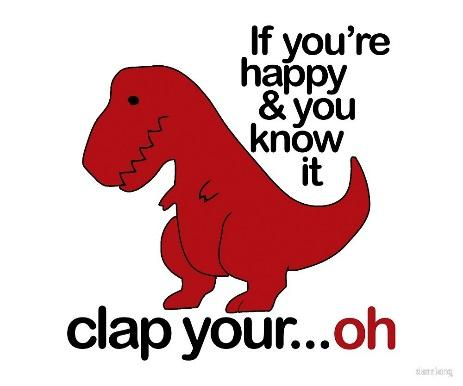 Image result for if you happy and you know it clap your... oh