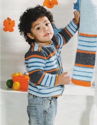 кофта на мальчика 2 года крючком 3606