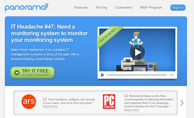 video landing page examples panorama9
