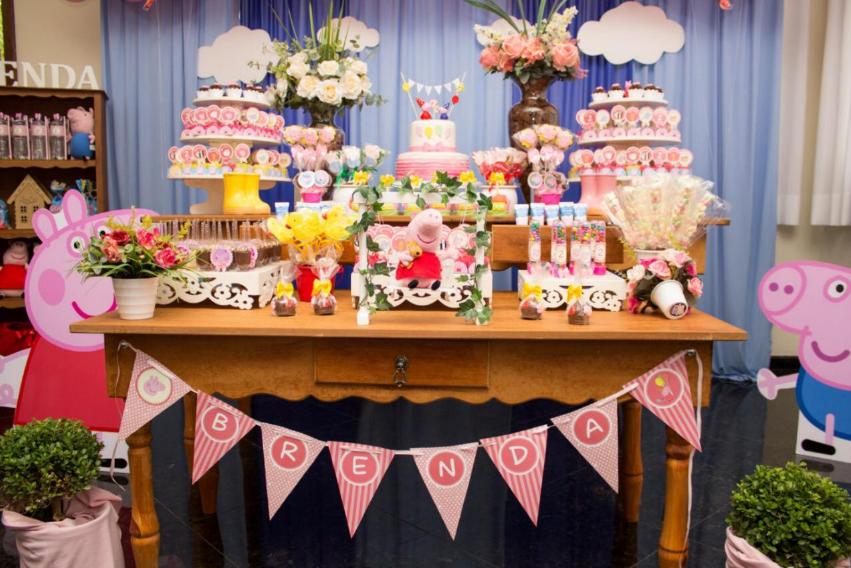 decoração festa de aniversário tema Peppa Pig
