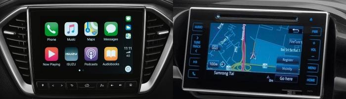 หน้าจอแบบสผัสของ All New Isuzu D-Max 9 นิ้ว, Toyota Revo Rocco 7 นิ้ว