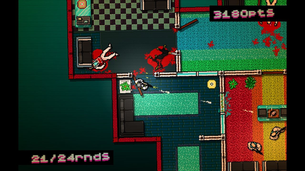 HOTLINE MIAMI retro video game