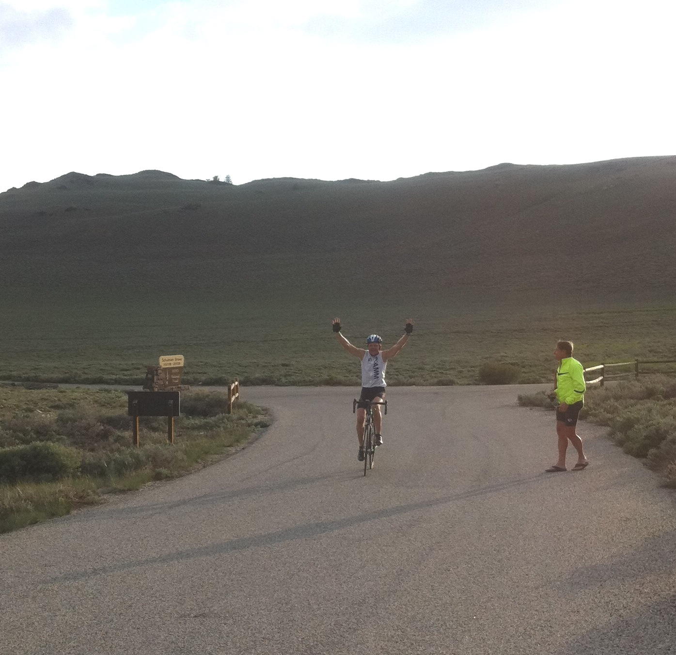 4 Owens Valley HC's in 1 day - John Johnson on bike White Mountain finish