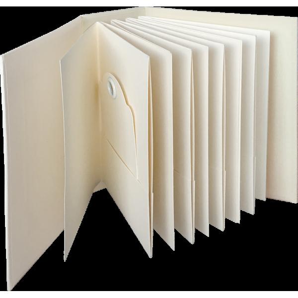 ATC Rectangle Tag & Pocket Album - Ivory