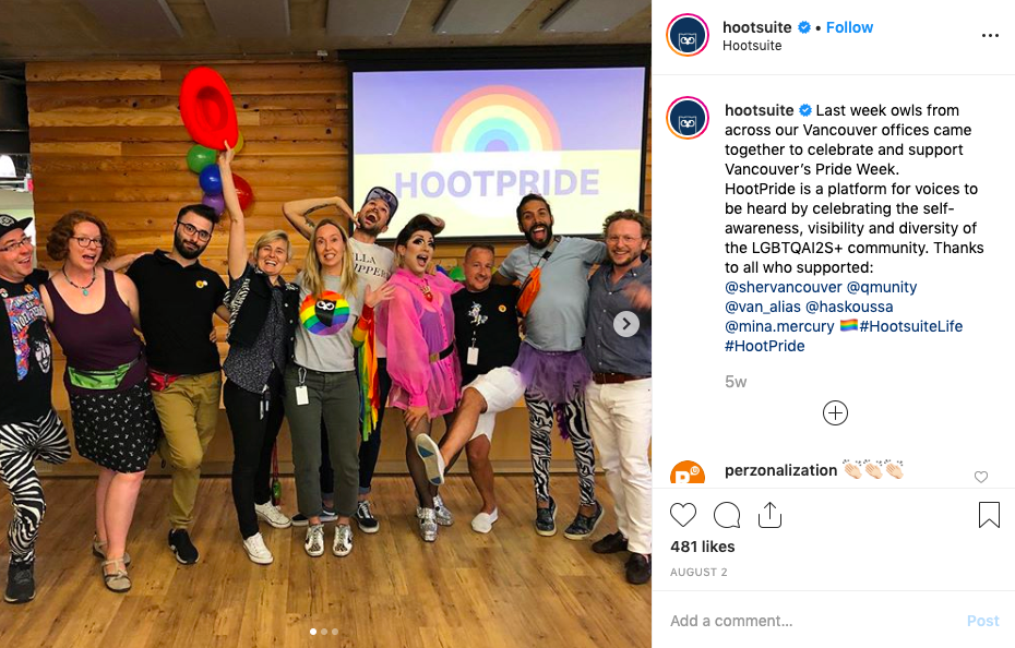 hootsuite instagram post