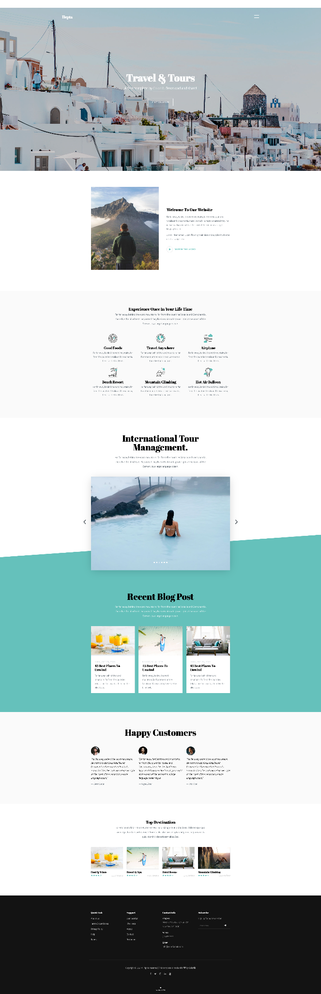 Mẫu website du lịch 3