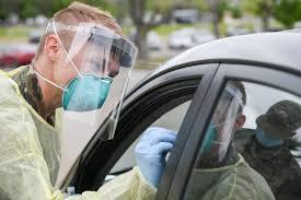 Teste de coronavírus drive