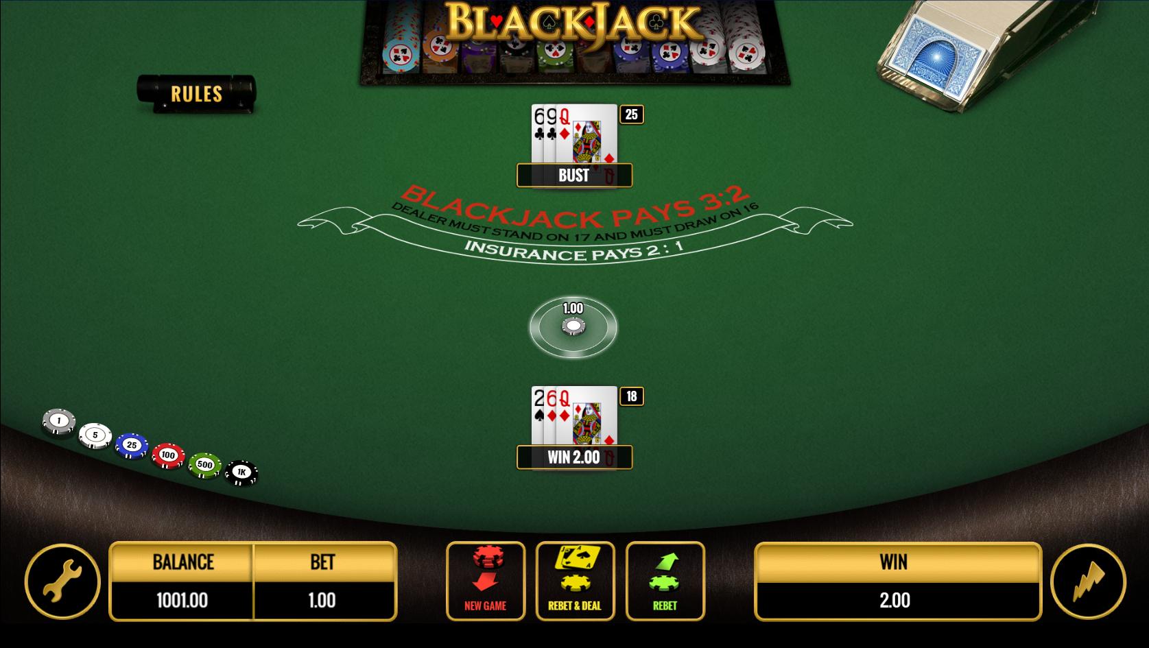 Resorts NJ Online Blackjack