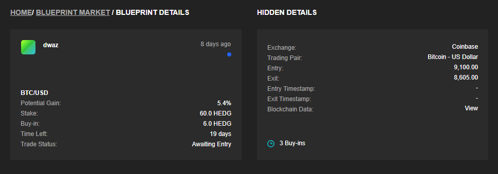 earn hedg tokens by posting correct predictions