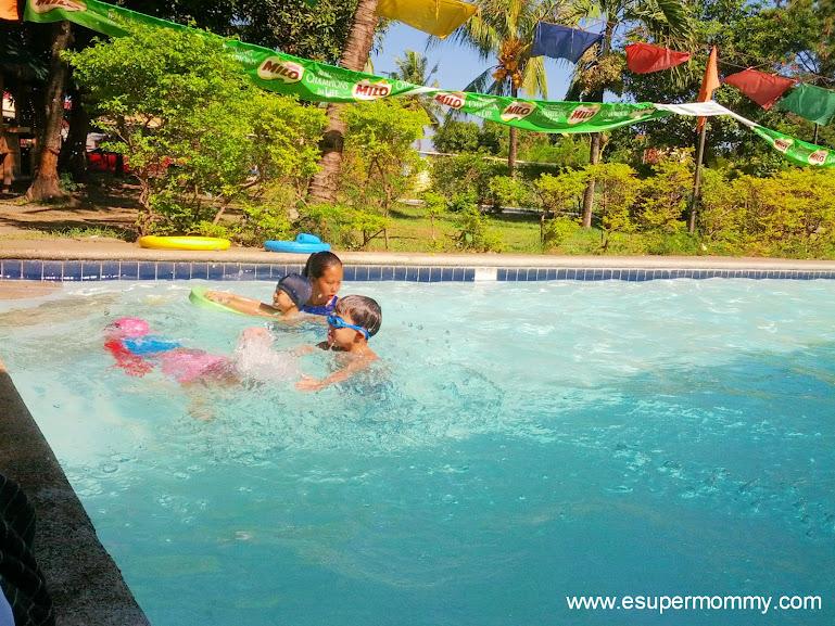 Milo Sports Clinic Swimming Lesson at Citihomes subdivision