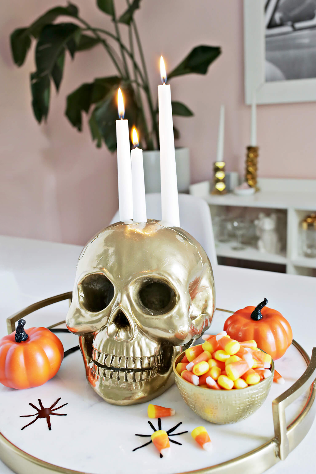 Skull Candle Holder: These 30 DIY Halloween Decorations That Are Wickedly Creative will save you money and allow your creativity to flourish
