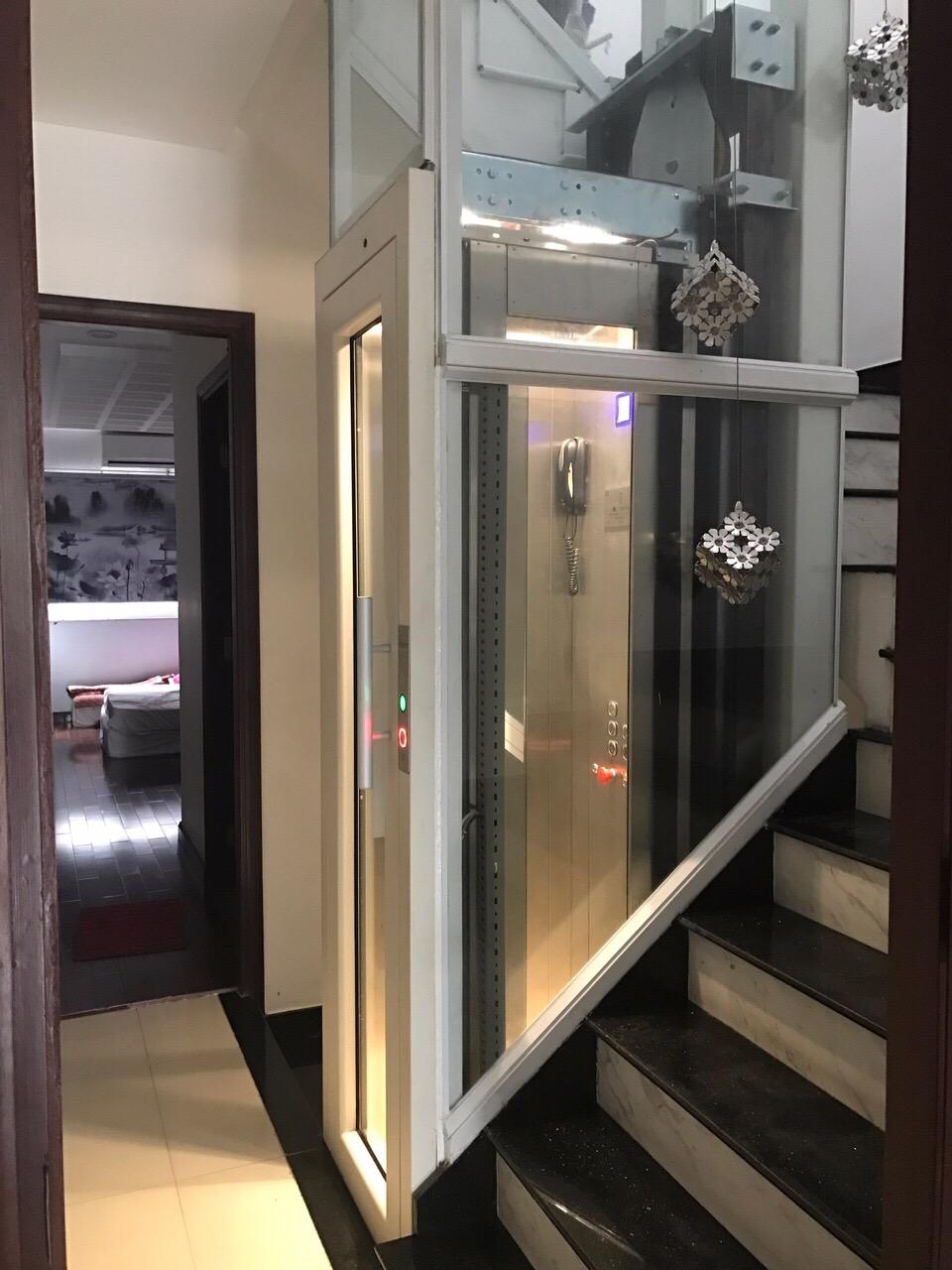 Thang máy không hố PIT , không phòng máy của Thang máy gia đình Gama lắp đặt tại Tp. Hồ Chí Minh