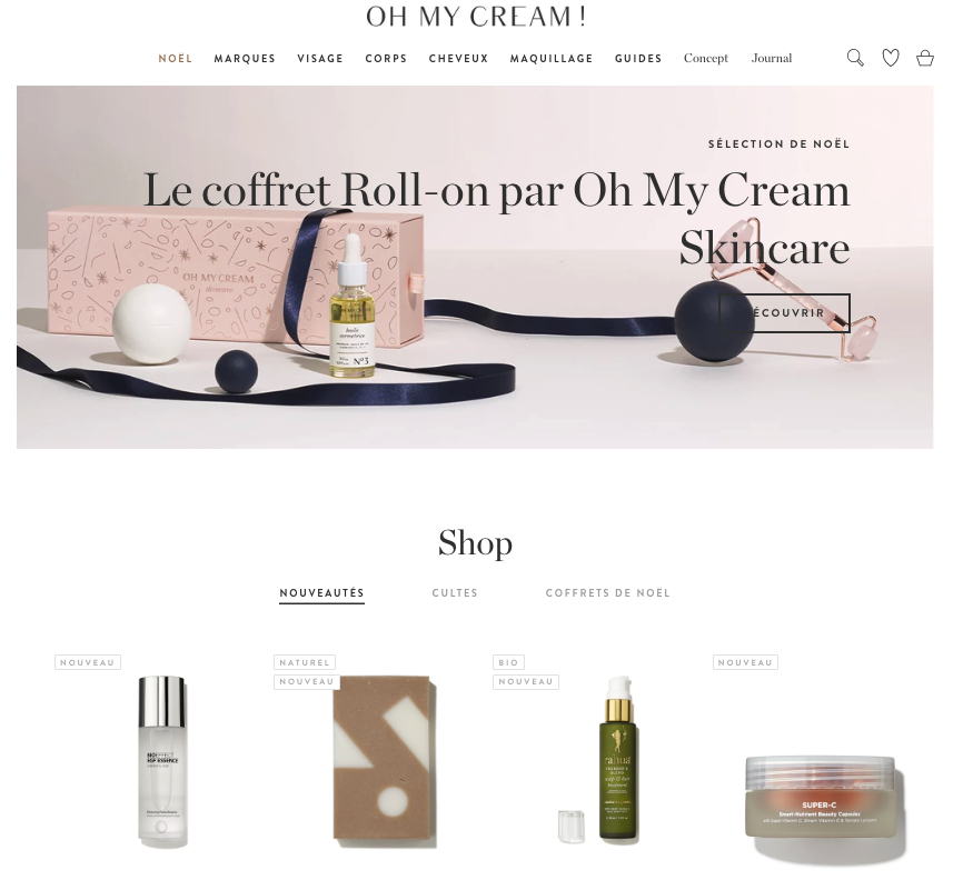 exemple de boutique e-commerce Shopify