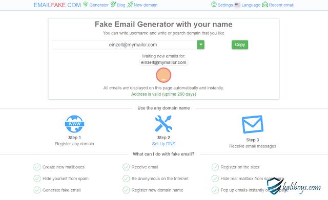 كيف يمكنني إنشاء عنوان بريد مؤقت؟