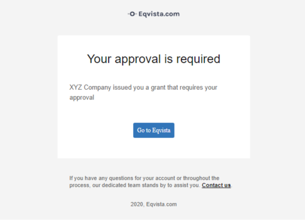 Email to approval request
